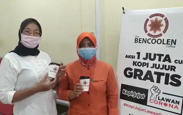Aksi Kopi jujur di RS Bhayangkara (hari ke-1)
