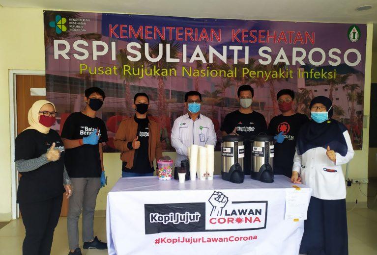 Support 250 Cup Kopi, Jahe Merah Gula Aren, dan Roti di RSPI Sulianti Saroso