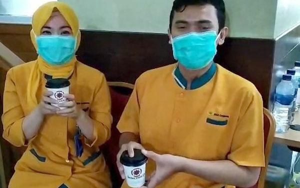 Aksi Kopi jujur di RS RSUD Cengkareng (hari ke-4)