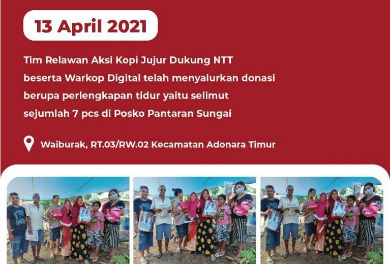 Dokumentasi Penyaluran Donasi dari Tim Relawan Aksi Kopi Jujur dan Warkop Digital Dukung NTT