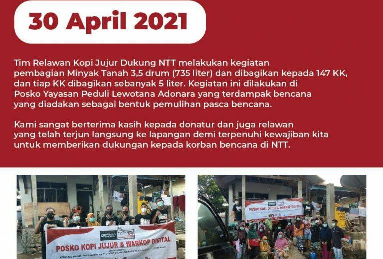 Update Donasi Kopi Jujur Dukung NTT