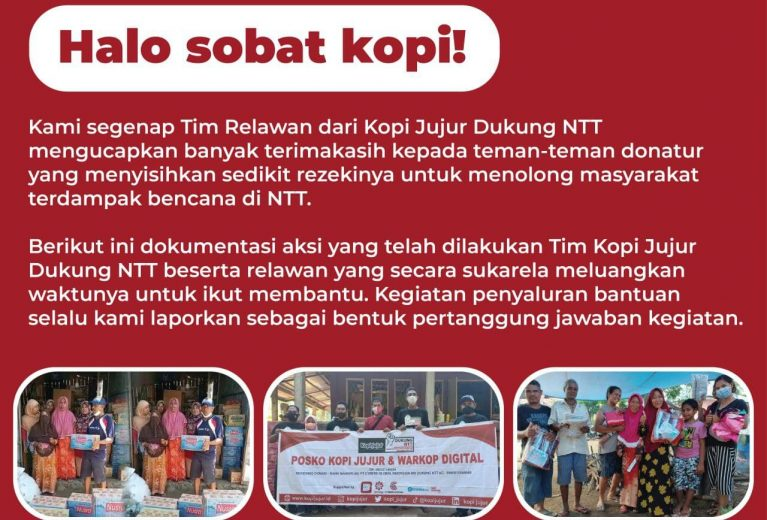 Update Relawan Kopi Jujur Dukung NTT 31 Mei 2021
